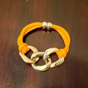 Vintage Orange and gold costume bracelet